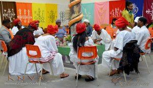 Rassemblement des Manbo(s) et des Houngan(s) lors de l'inauguration de la Maison K.N.V.A. – Canada